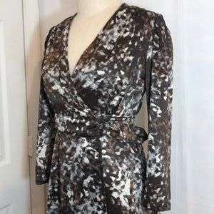 NWT Prologue XS Long sleeve wrap belt dress